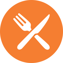 Knife and fork in the shape of an X