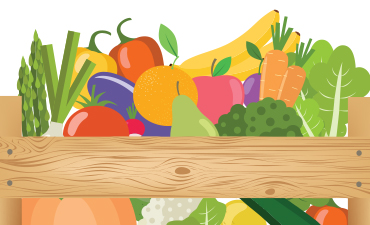 fresh foods in farm box