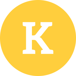 K in a yellow circle